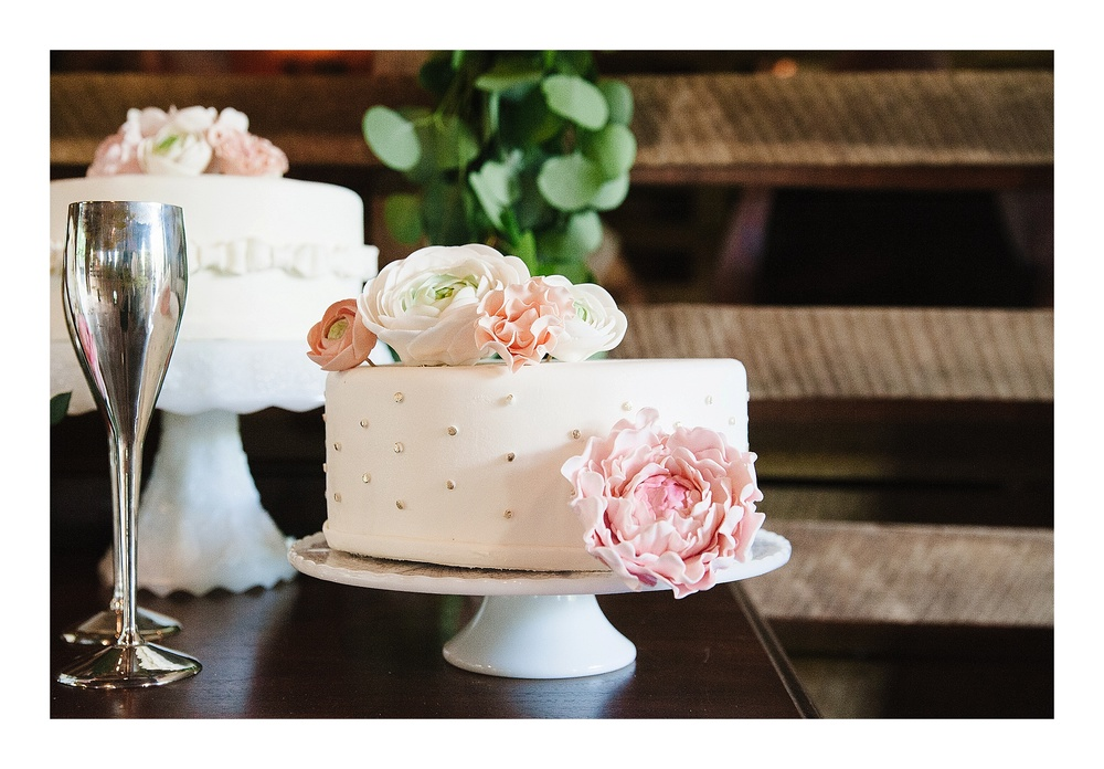 beautiful cake shot at Steele Crest Wedding reception