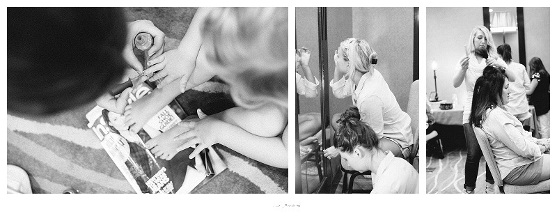 bridal prep at the hutton hotel
