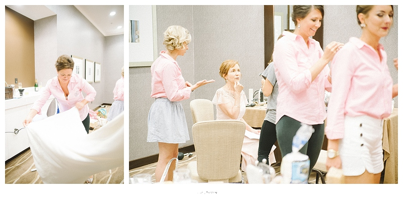 brides getting ready at hutton hotel