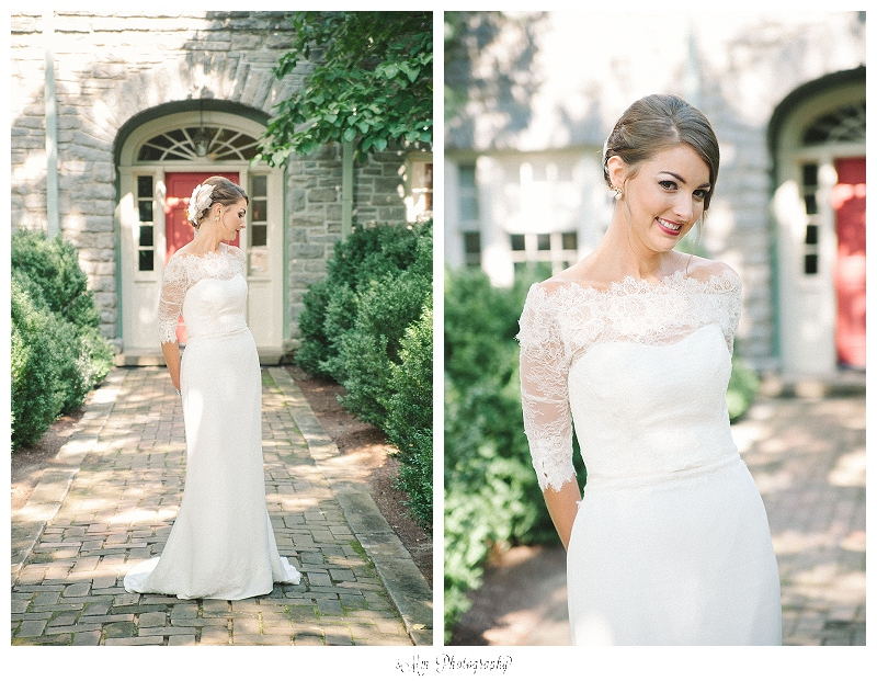 bridal portraits at cheekwood estate