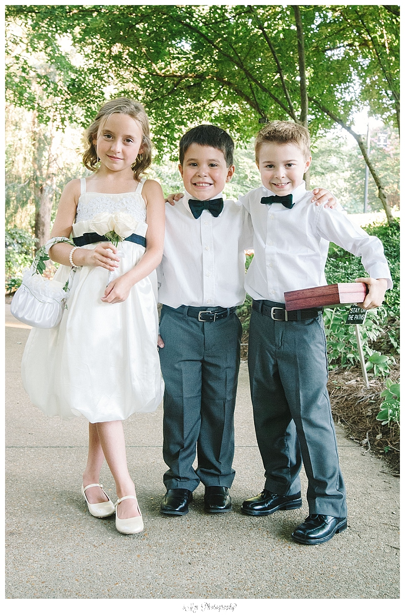 kids of the bridal party pose