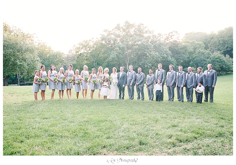 large bridal party photo at cheekwood estates