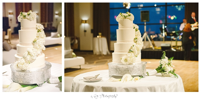 gorgeous wedding cake at hutton hotel