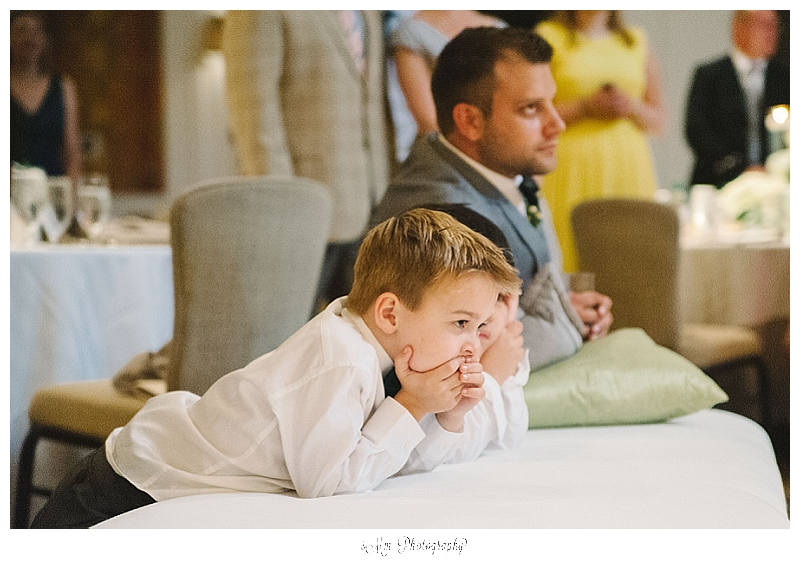 ring bearers watch first dance