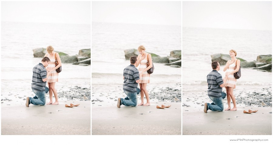 Surprise Proposal in Charleston at the beach
