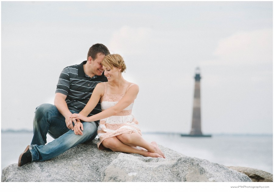 Surprise Proposal in Charleston at the Morris Island Lighthouse