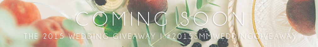 2015 Wedding Giveaway Announcement