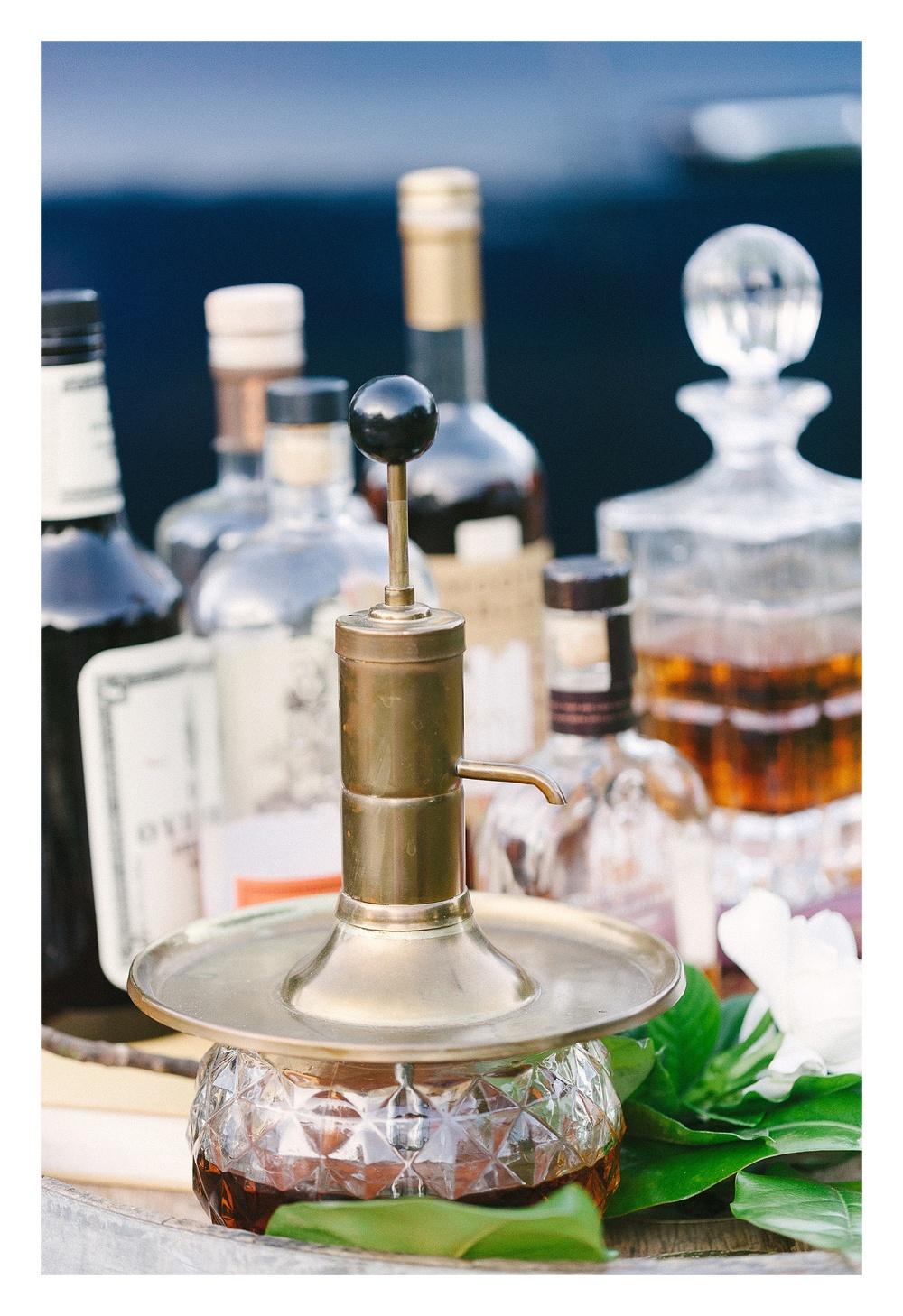 Charlotte wedding photographer captures bourbon bar
