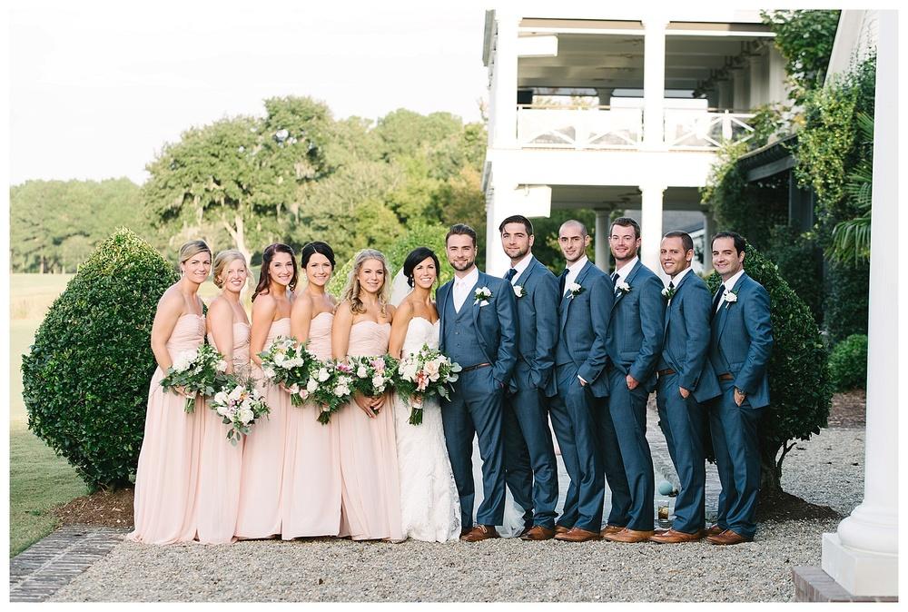 wedding party at daniel island club charleston sc