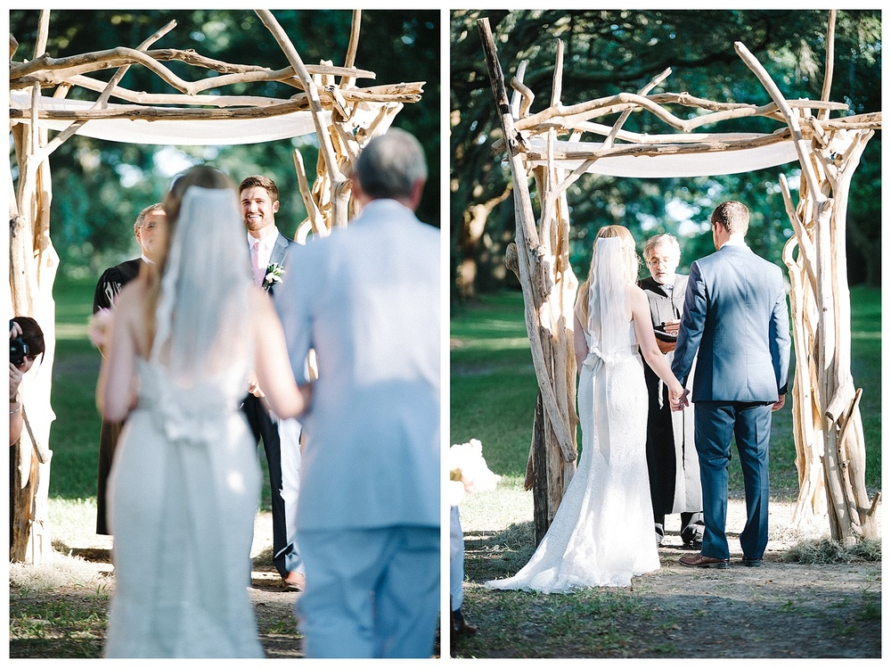 Outdoor wedding at Legare Warring House