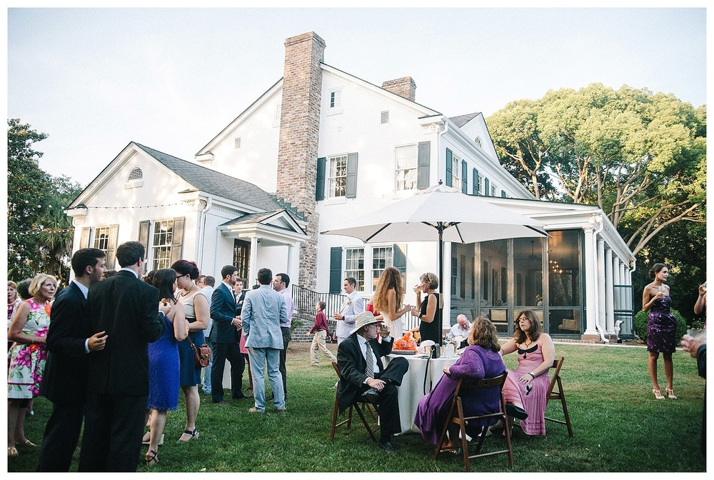 Outdoor wedding at Legare Warring House; Charleston wedding photography by sMm Photography.