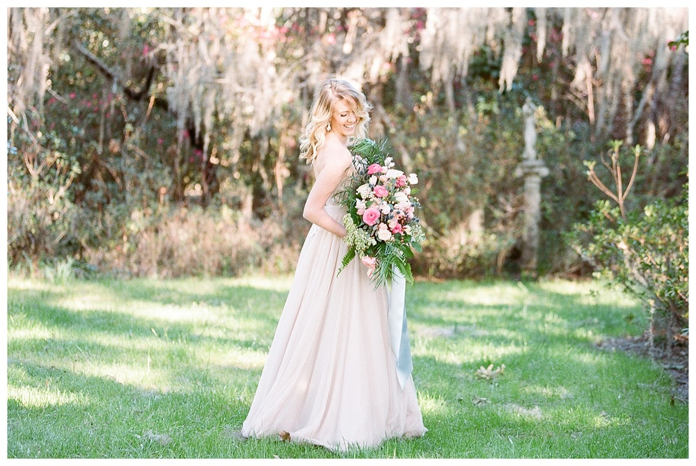 Shannon's bridal portraits for Destination Wedding at Magnolia Plantation Charleston, South Carolina
