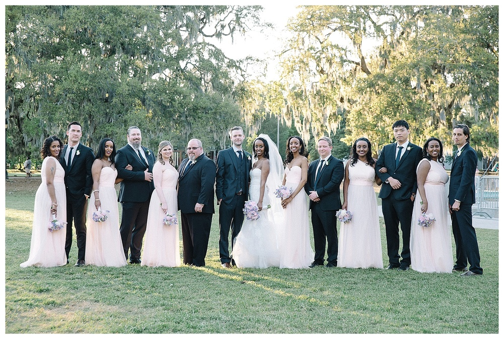 wedding party photo at Mansion Forsyth