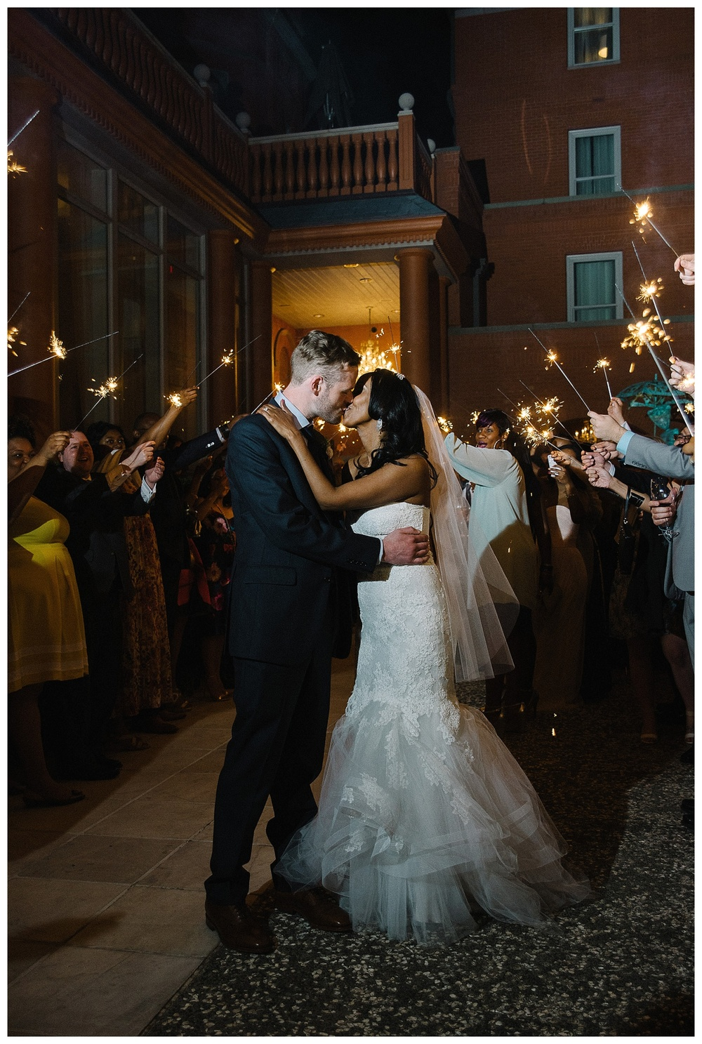 sparkler exit at luxury wedding at Mansion Forsyth