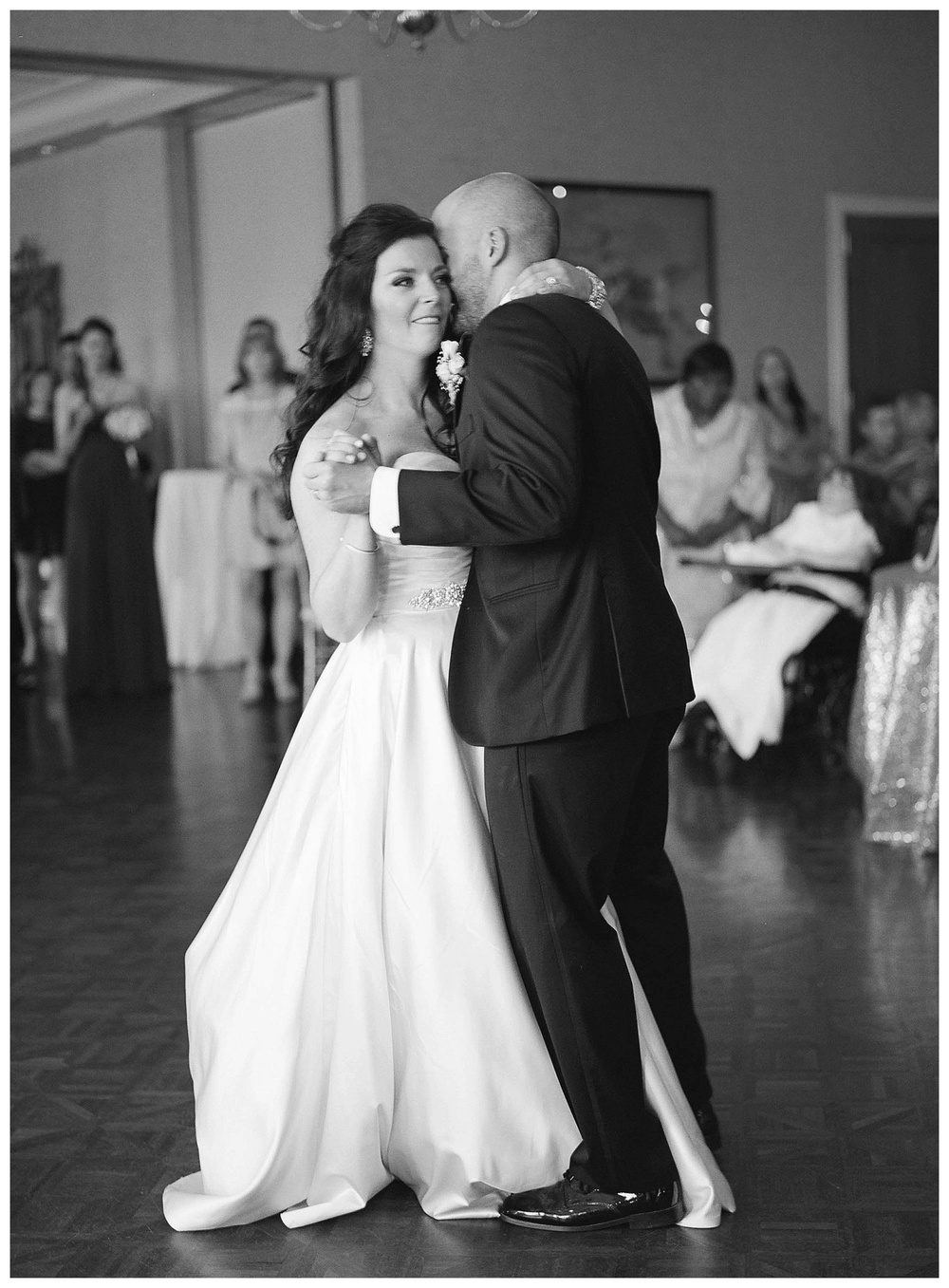 Destination wedding - film wedding photography - first dance at Country Club of South Carolina wedding