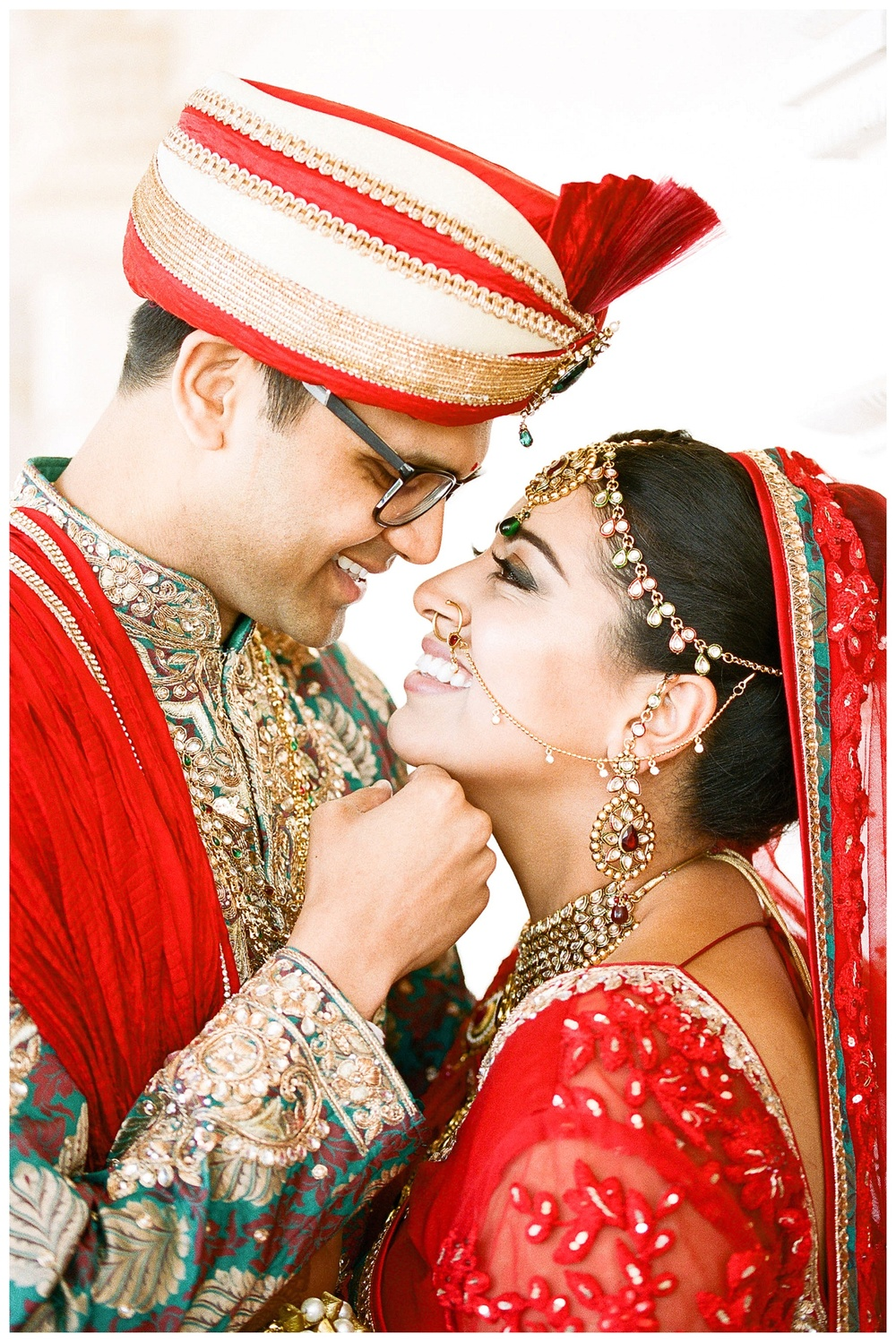 film wedding photograph couple at BAPS Atlanta Indian Wedding