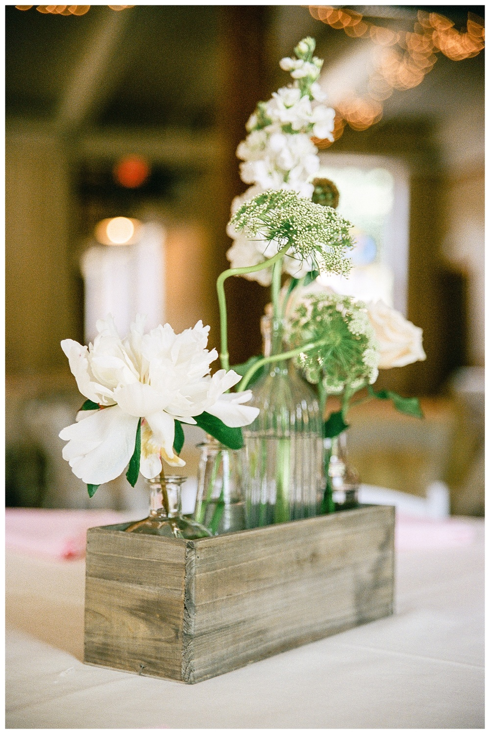 Rustic tablescape Laboratory Mills wedding, Charlotte film photographer