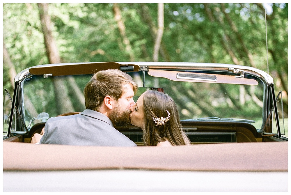 Laboratory Mills wedding, Charlotte film photographer