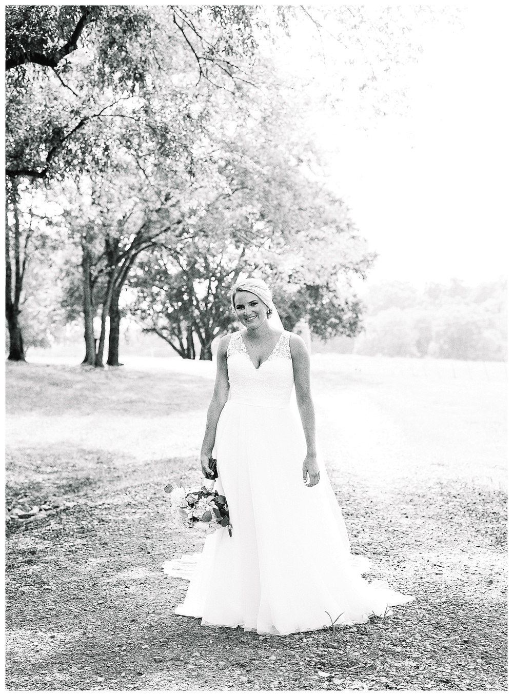 bridal portrait at The Dairy Barn