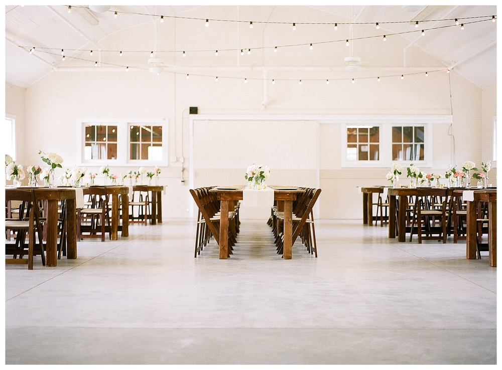 bright reception space at The Dairy Barn