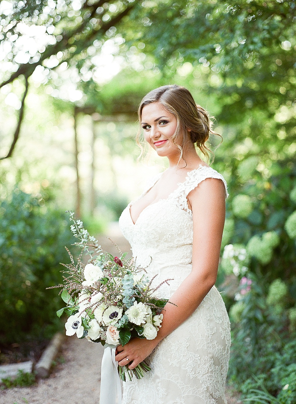 bride at The Ivy Place wedding, charlotte film photographer