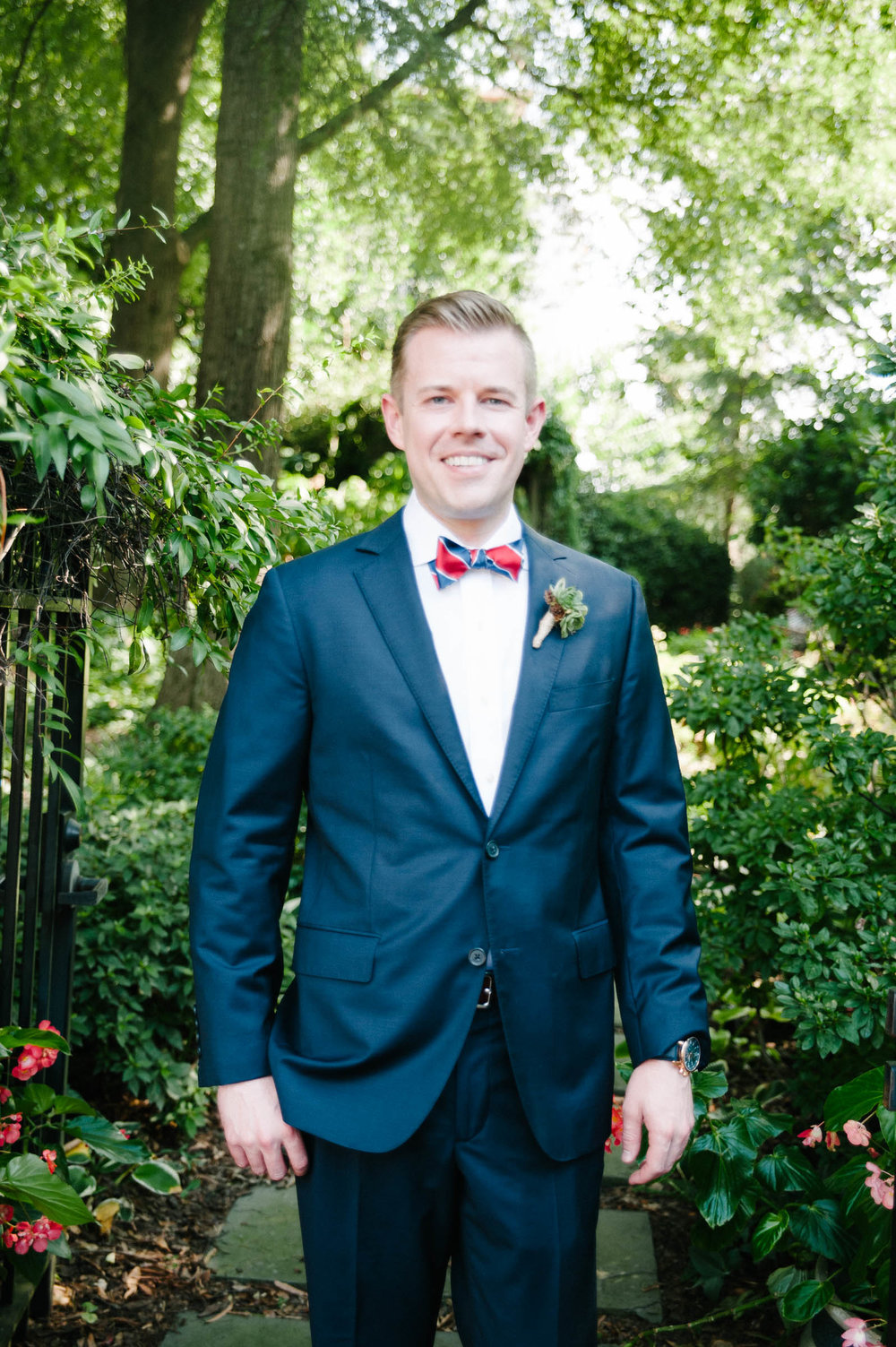 groom at Atlanta Trolley Barn, Atlanta GA