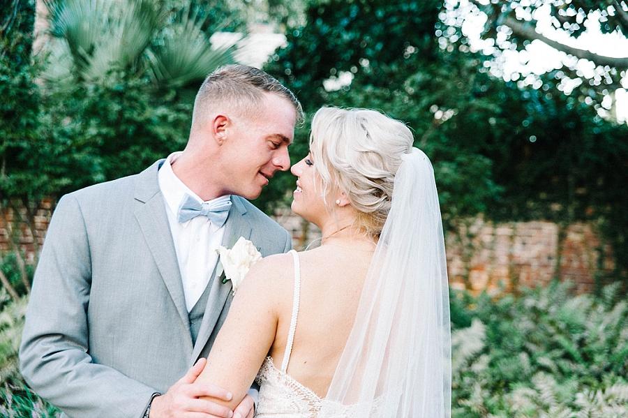 couple's photos at wedding ceremony at Gadsden House Wedding, Charleston, SC