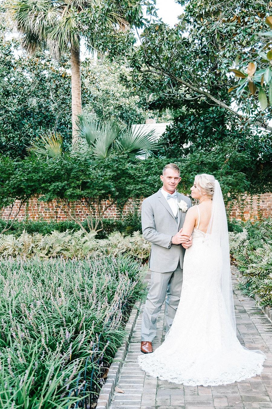 couple's photos at Gadsden House Wedding, Charleston, SC