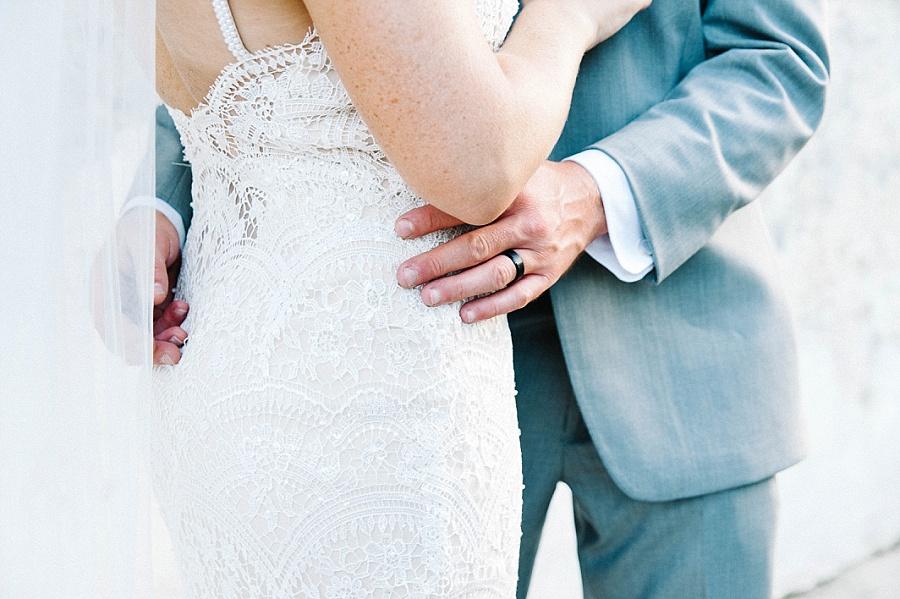 First look with groom at Zero George Street Hotel near the Gadsden House Wedding, Charleston, SC