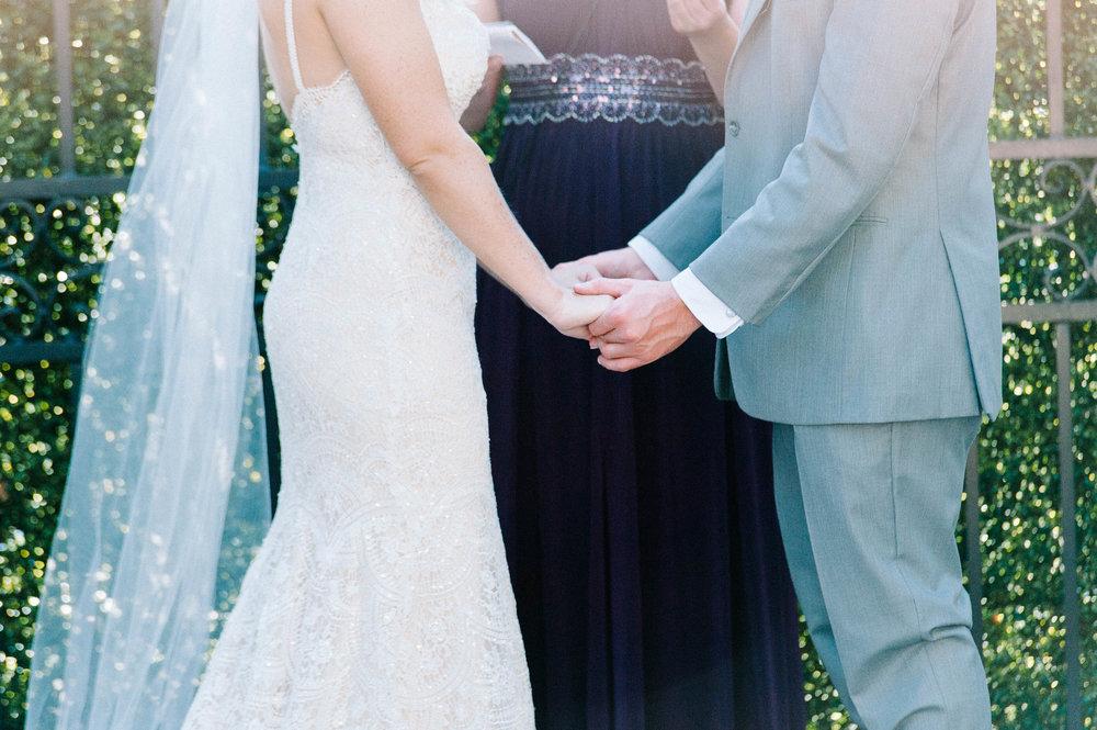 wedding ceremony at Gadsden House Wedding, Charleston, SC
