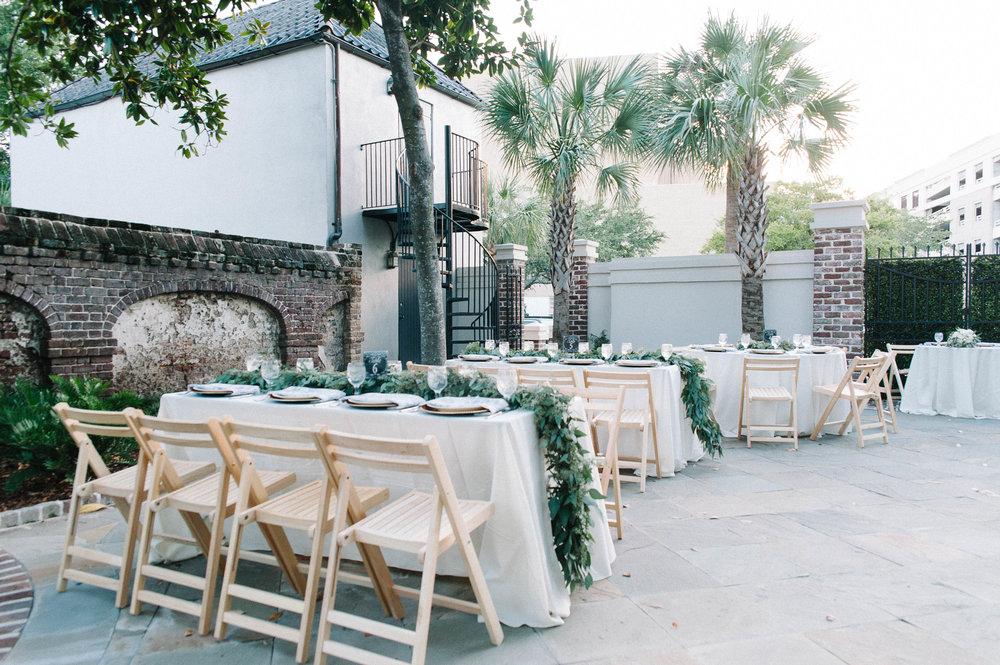 gadsden house outdoor wedding reception charleston