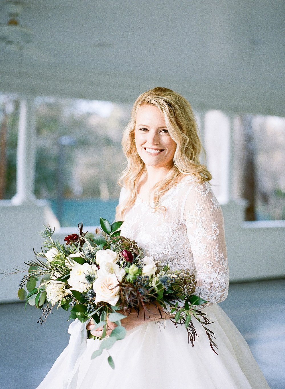 Winter wedding at Ritchie Hill, Charlotte film photographer