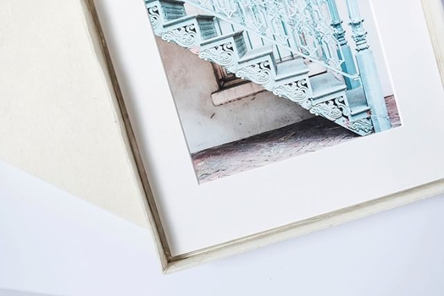 When I opened the fine art print shop, I knew instantly that matted prints were a big deal to me. There's nothing worse than seeing a fine art print or original in a frame without a mat. Matted artwork helps it stand-out, it also protects the artwork from the elements.