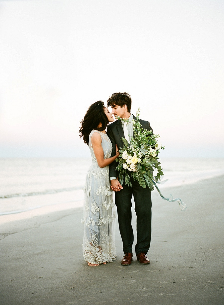 Savannah Film Wedding Photographer, sMm Photography, Tybee Island Beach Elopement