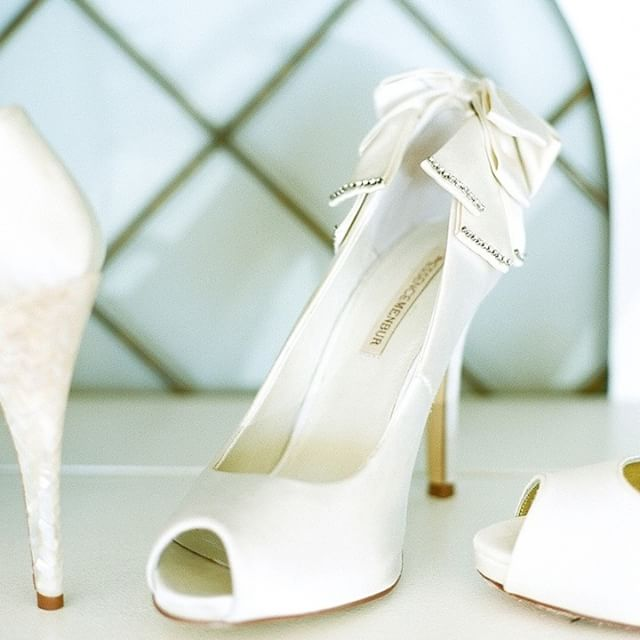 I have an entire closet of shoes, but I never tire of finding a new pair! Check out my friend CJ at @jmajorsbridal for an awesome assortment of bridal shoes!! I'm loving that bow on the back of this pair.