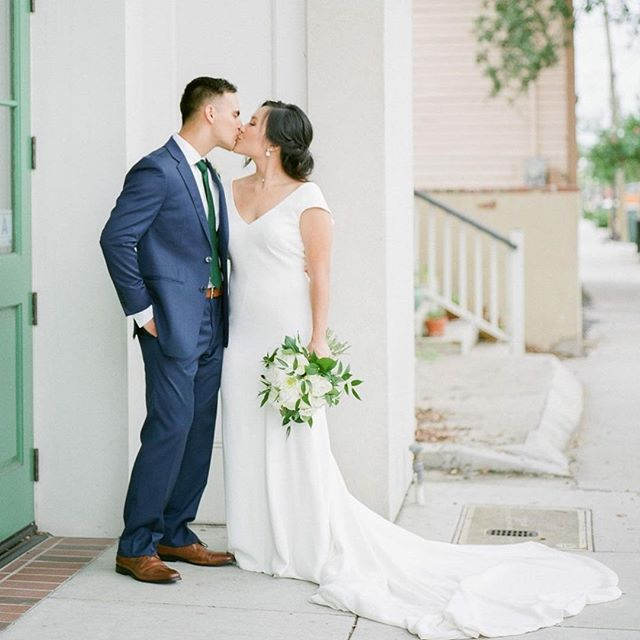 Charleston was a perfect fit for their destination wedding since John graduated from @thecitadel1842 . Working with Kala at MOD events, Carrie & John pulled off a timeless affair.  Vendors:: Planning & Flowers- @modeventscharleston // Photography - @smmphotog // Hair & Makeup - @paperdollshair // Cake- Wildflour Cakes + Pastries Signage- @j.lilydesign // Catering, Bar & Rentals- @cannongreenchs // DJ- @bunndjco // Film Scan & Developed by @vbphotolab // Film @fujifilm_profilm Fuji400 // Second shooter @alexthorntonphoto // Assistant @tstangl