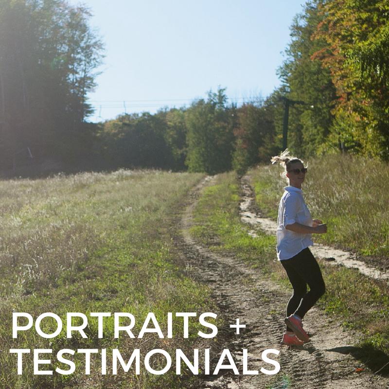PORTRAITS + TESTIMONIALS
