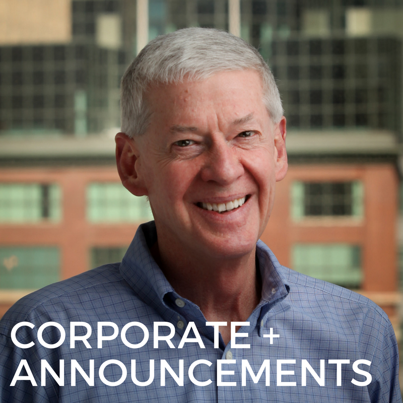CORPORATE + ANNOUNCEMENTS