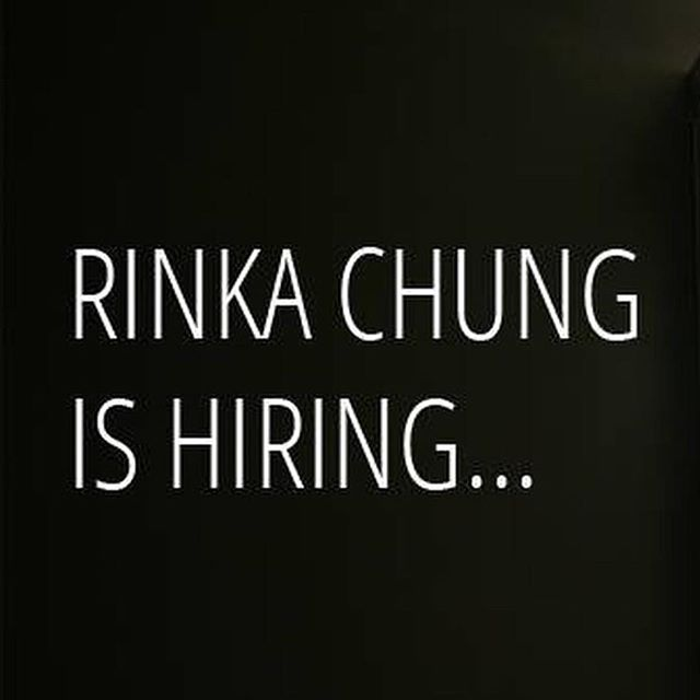 Rinka Chung is looking for a Senior Project Architect. Check our website or Facebook for more details.