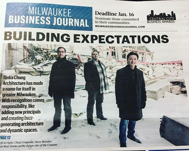 Pick up a copy of today's @mkebizjournal. Proud of all the great work we do and the city we live in.