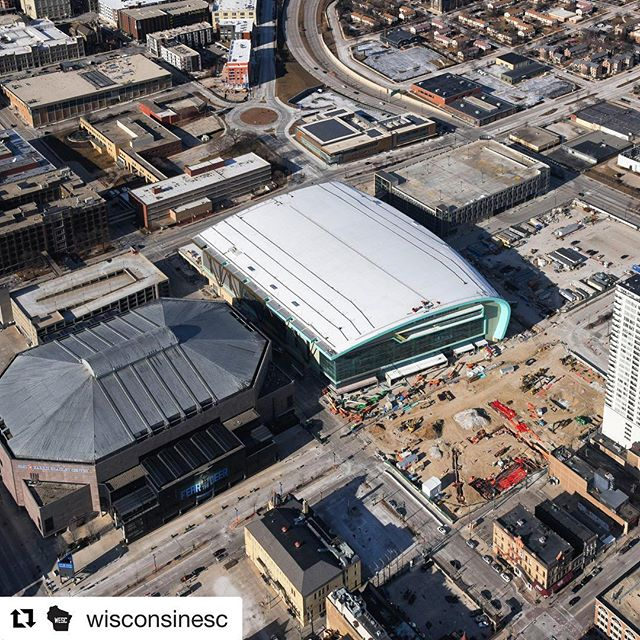 That little brown patch might not look like much now but... just wait #entertainmentblock is coming! #underconstruction #comingsoon #bucksarena