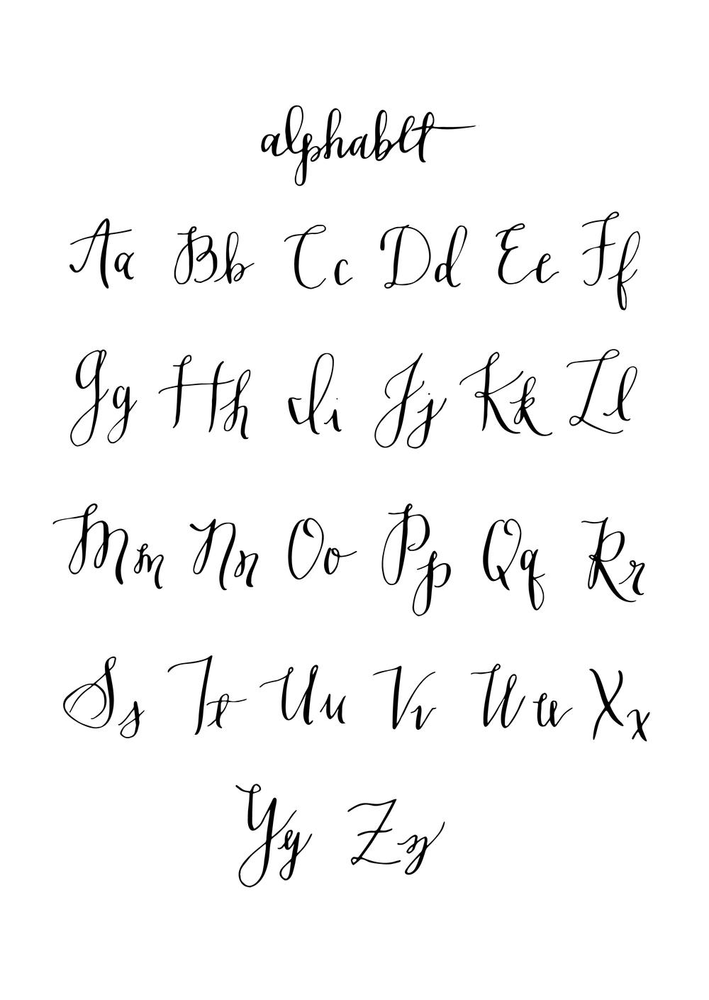 Calligraphy Alphabet Nicole Byon
