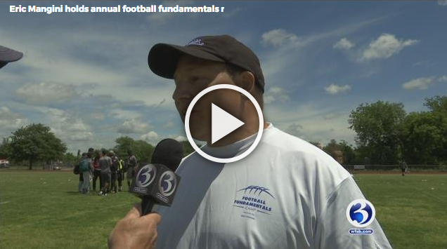 WFSB Channel 3 News coverage of the Foundation's 2017 Football Fundamentals Camp.