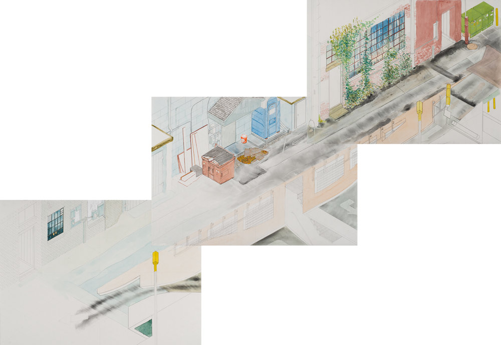 A Survey of Fayetteville Alleyways in Five Sections (Section 3)