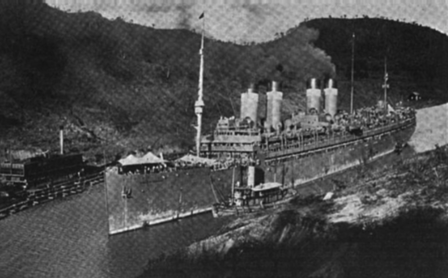 USAT   Mount Vernon  , 25 May 1920, transiting Panama Canal bound from Vladivostok to Hamburg.
