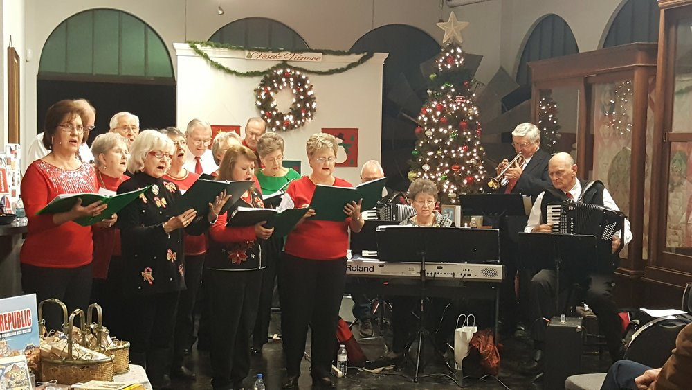 The Taylor Czech Chorus performs at the Czech Heritage Museum, Temple, Texas