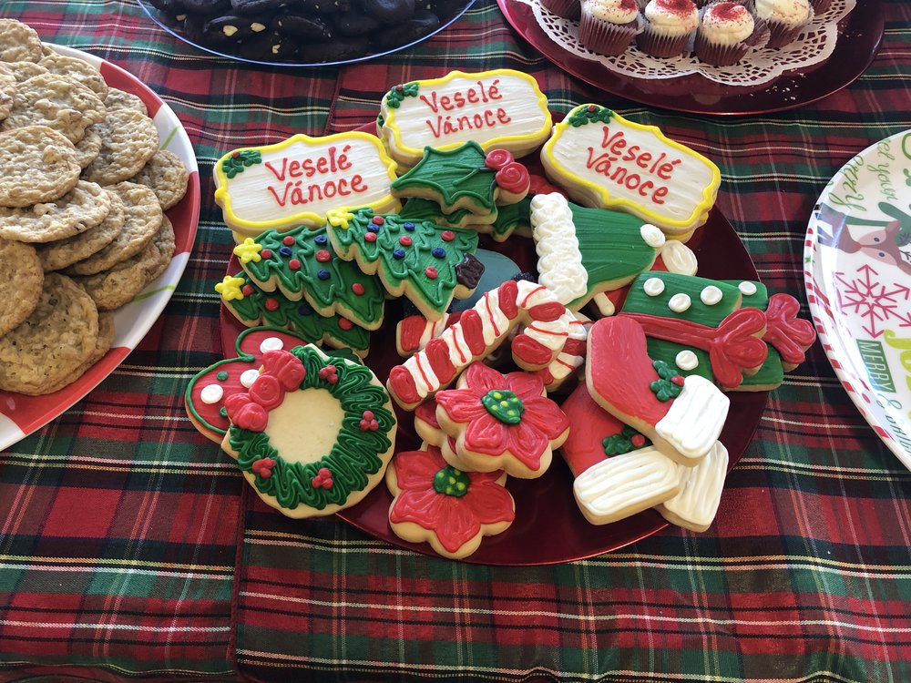 "Annie Vahalik's beautiful Czech ""Merry Christmas"" cookies delighted visitors at the Czech Heritage Museum's Open House"