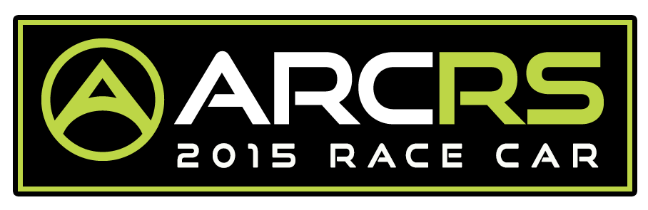 "This is meant to be a decal that would be present on all cars to signify that the car is associated with the league, a common practice copied from NASCAR.  I took the existing ARCRS lettering and stylized ""A"", and added the black box with green border and added the lettering ""2015 RACE CAR"" underneath using the same font."