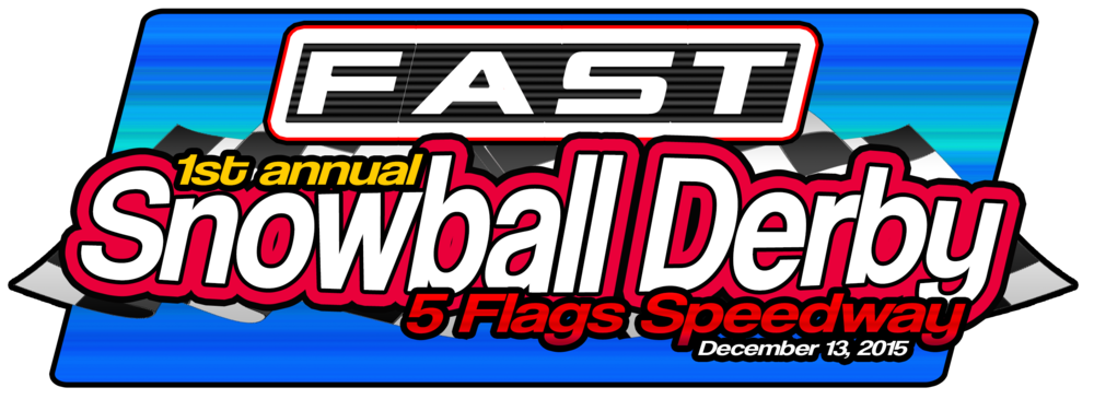 Version two of the FAST Snowball Derby logo, the red is getting us there.