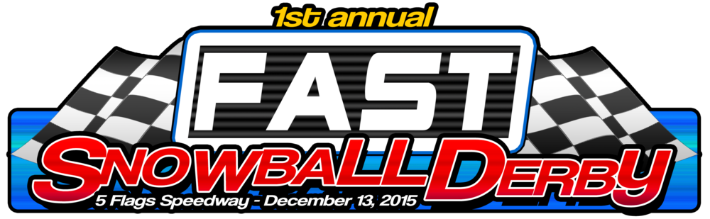 Final Version of the 1st Annual FAST Snowball Derby event logo.